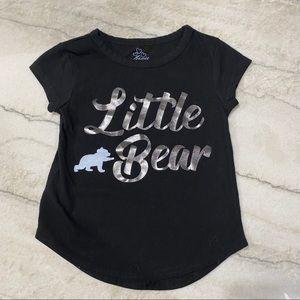 """3for$15 Toddler Unisex """"Little Bear"""" Black T-Shirt"""